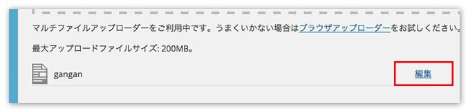 ワードプレス サーバー ファイルアップロード3