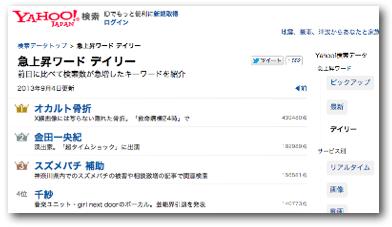 Yahoo!急上昇ワード